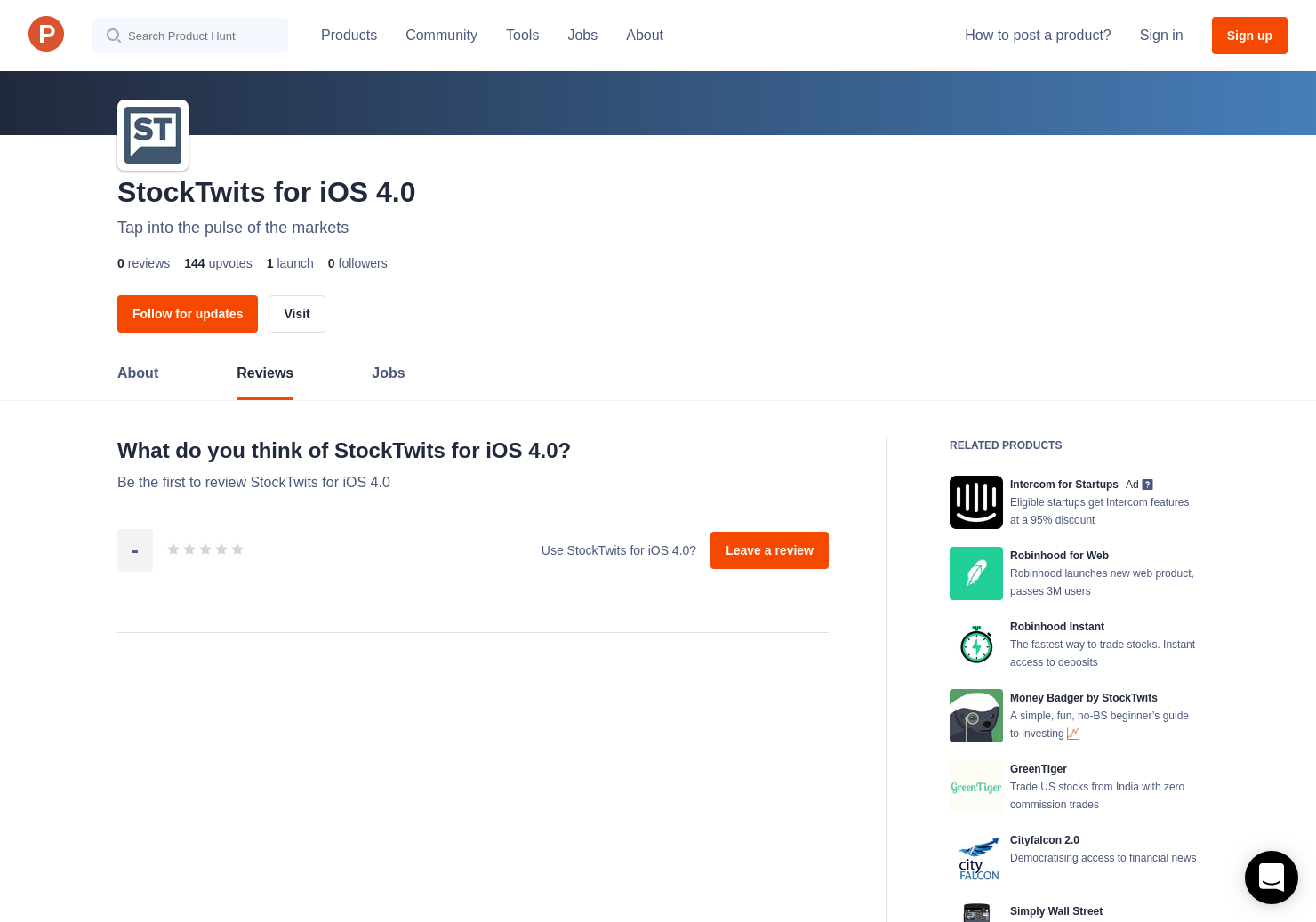 StockTwits for iOS 4 0 Reviews - Pros, Cons and Rating