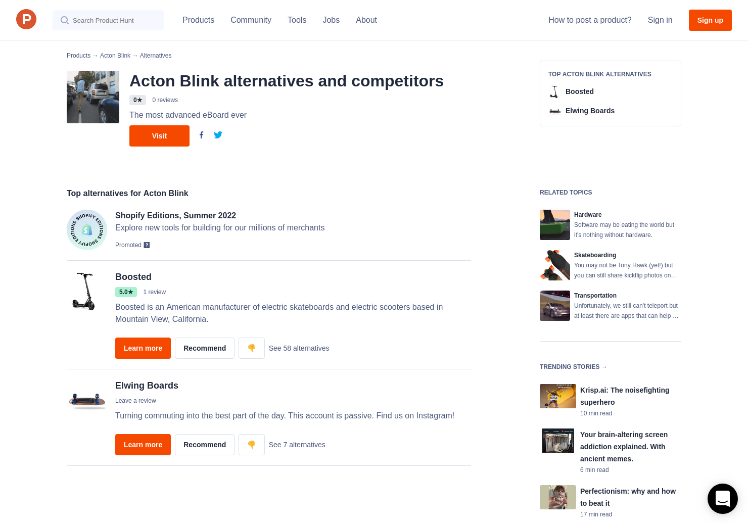 2 Alternatives to Acton Blink   Product Hunt