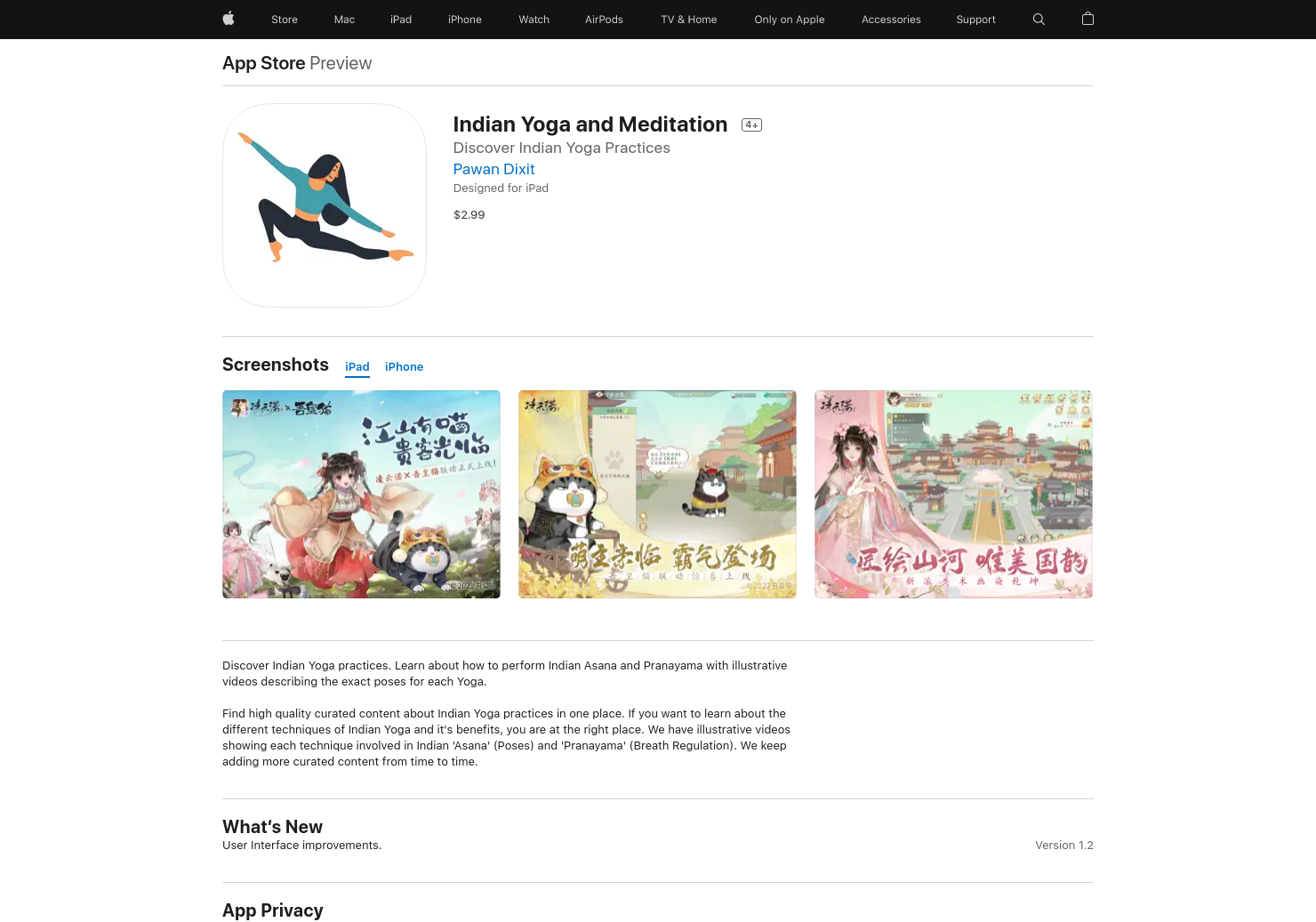 Indian Yoga and Meditation