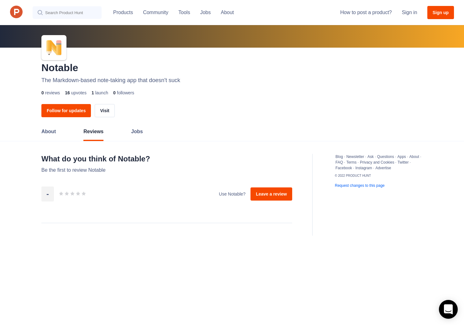 Notable Reviews - Pros, Cons and Rating | Product Hunt