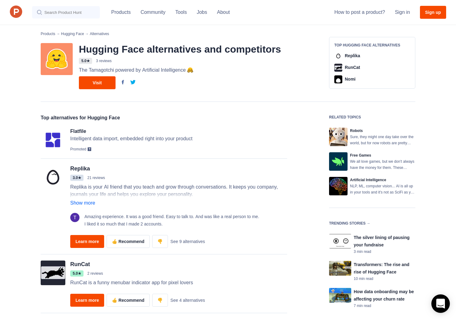 5 Alternatives to Hugging Face   Product Hunt