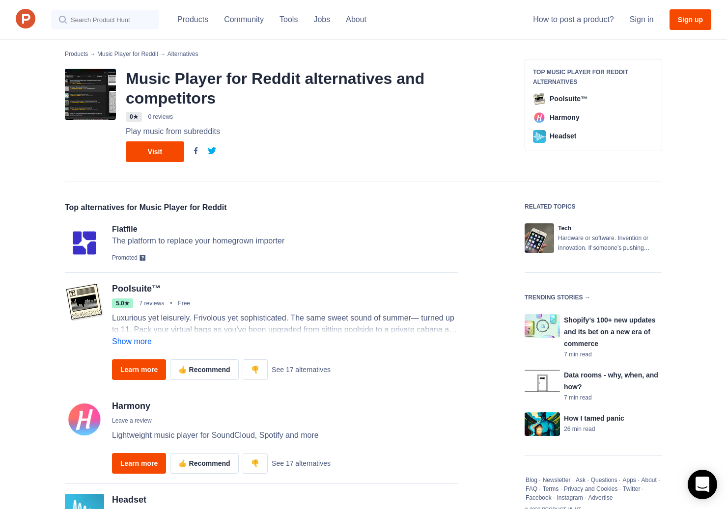 12 Alternatives to Music Player for Reddit | Product Hunt