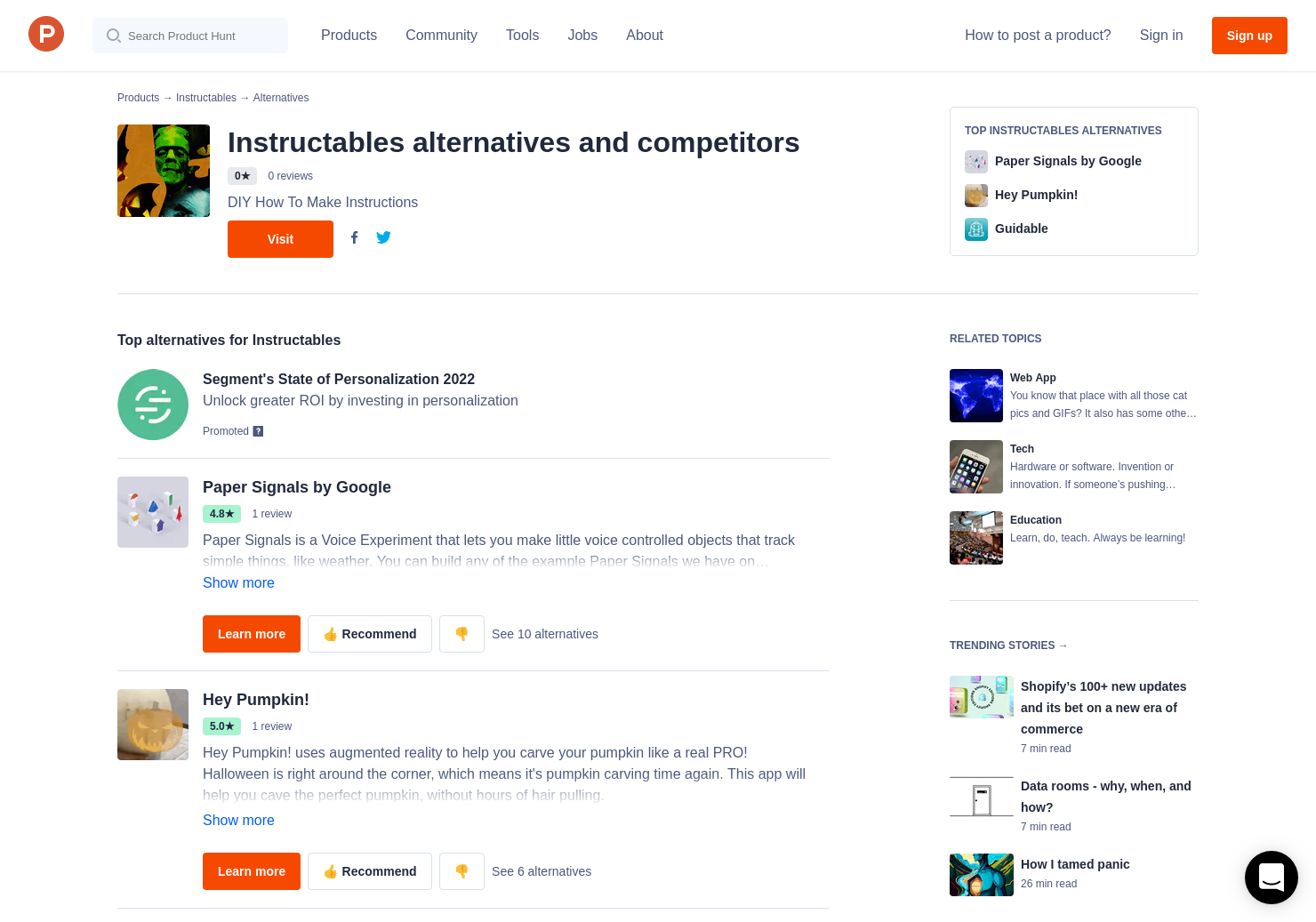 2 Alternatives To Instructables Product Hunt