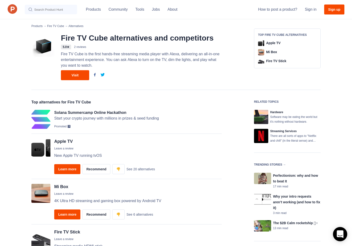 4 Alternatives to Fire TV Cube | Product Hunt