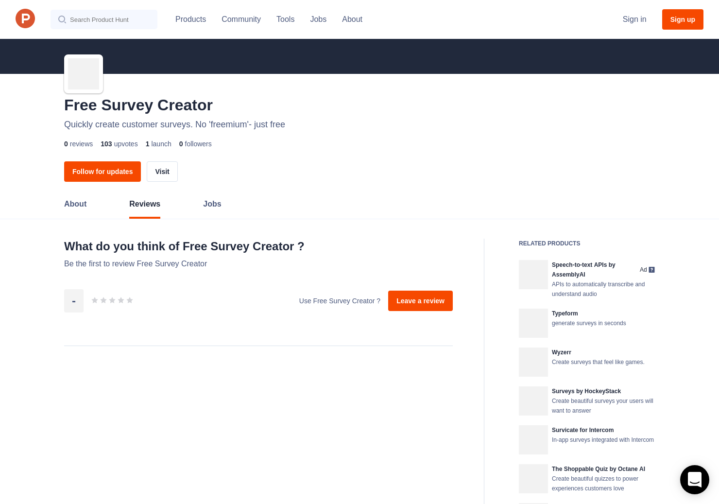 free survey creator reviews pros cons and rating product hunt