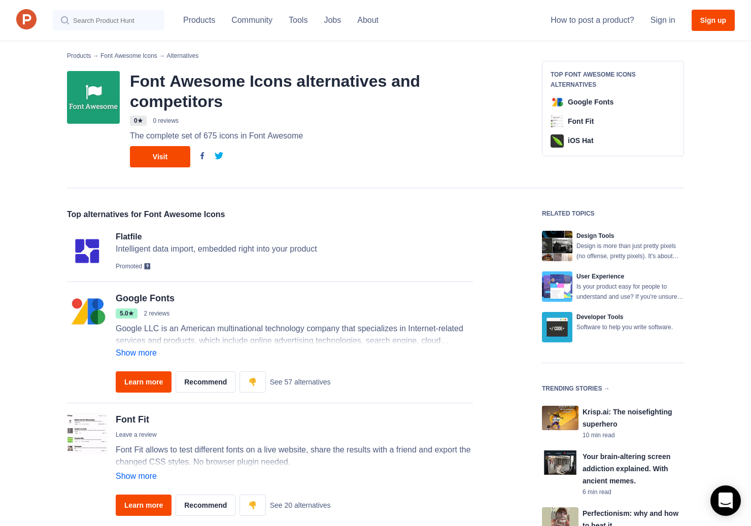 8 Alternatives to Font Awesome Icons | Product Hunt