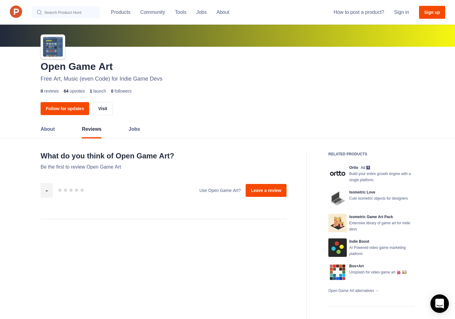 Open Game Art Reviews - Pros, Cons and Rating | Product Hunt