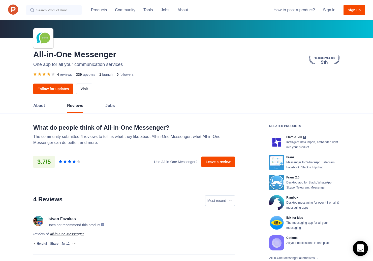 3 All-in-One Messenger Reviews - Pros, Cons and Rating