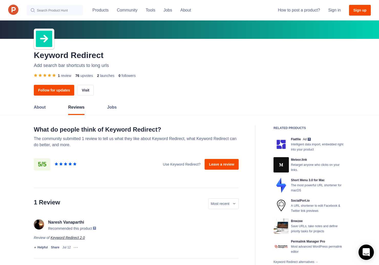Keyword Redirect Reviews - Pros, Cons and Rating   Product Hunt