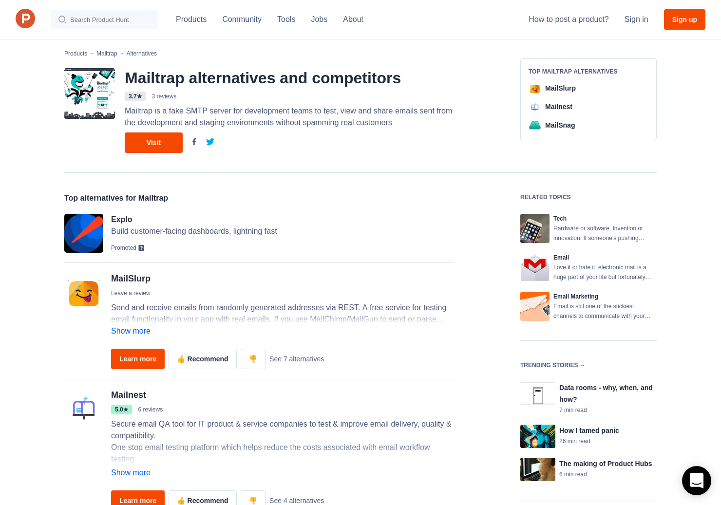2 Alternatives to Mailtrap io | Product Hunt