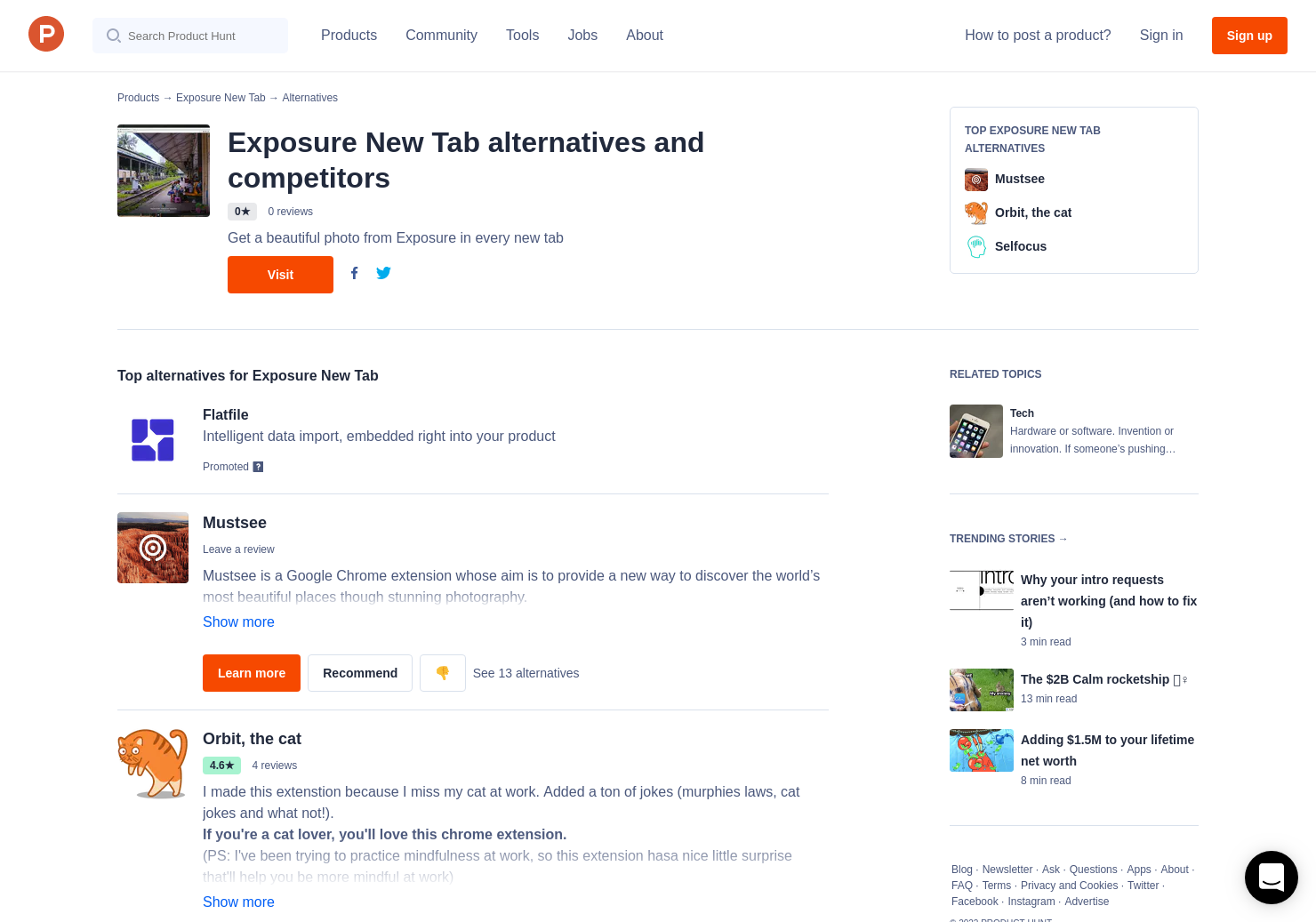 19 Alternatives to Exposure New Tab | Product Hunt