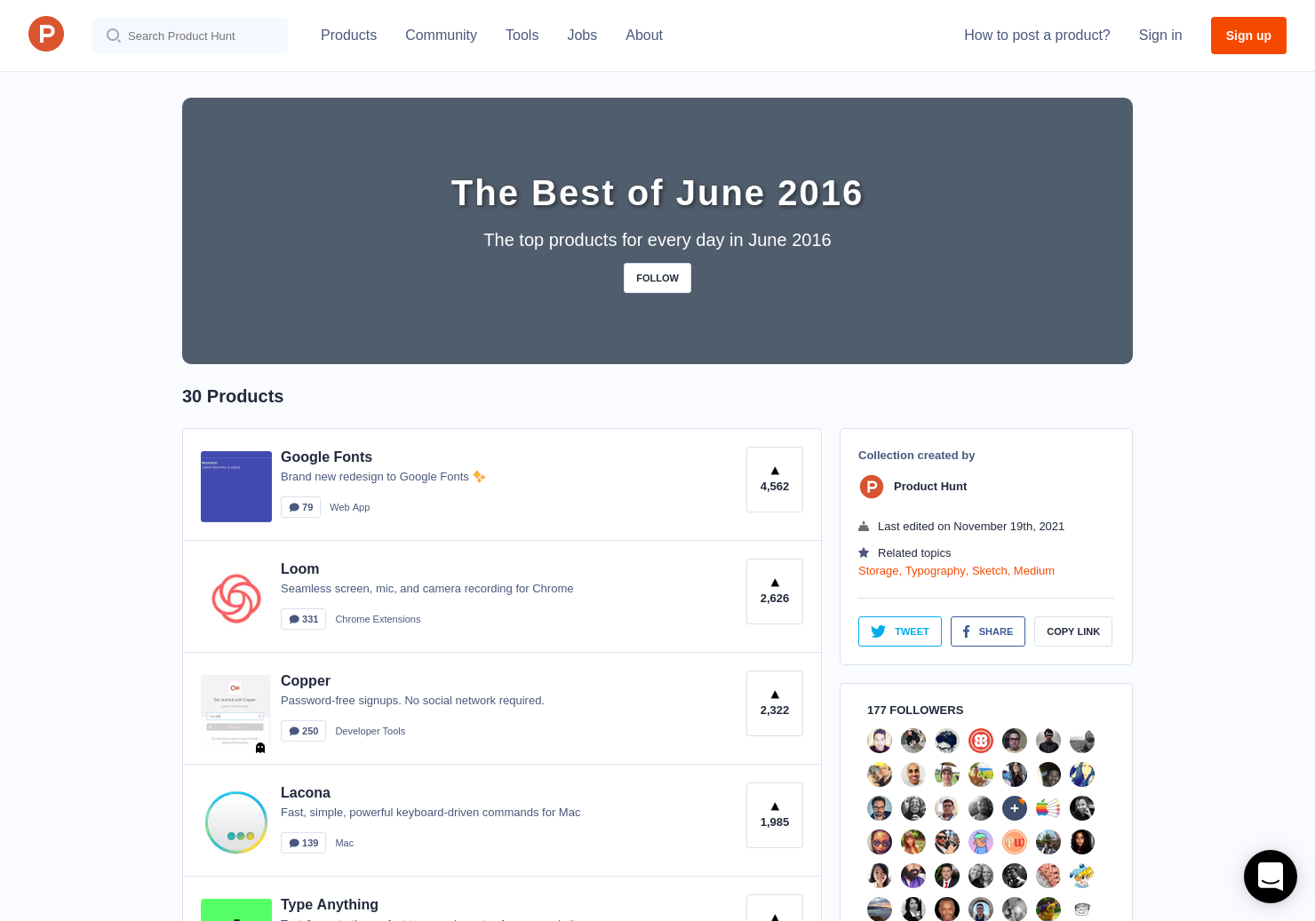 The Best of June 2016 - Product Hunt