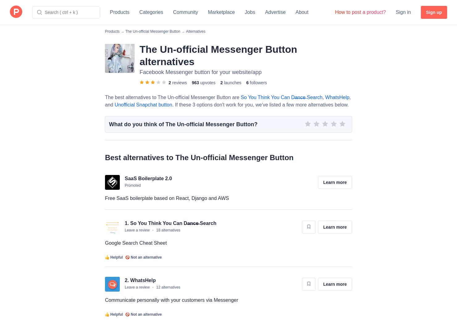 4 Alternatives to Modern, Facebook Messenger | Product Hunt