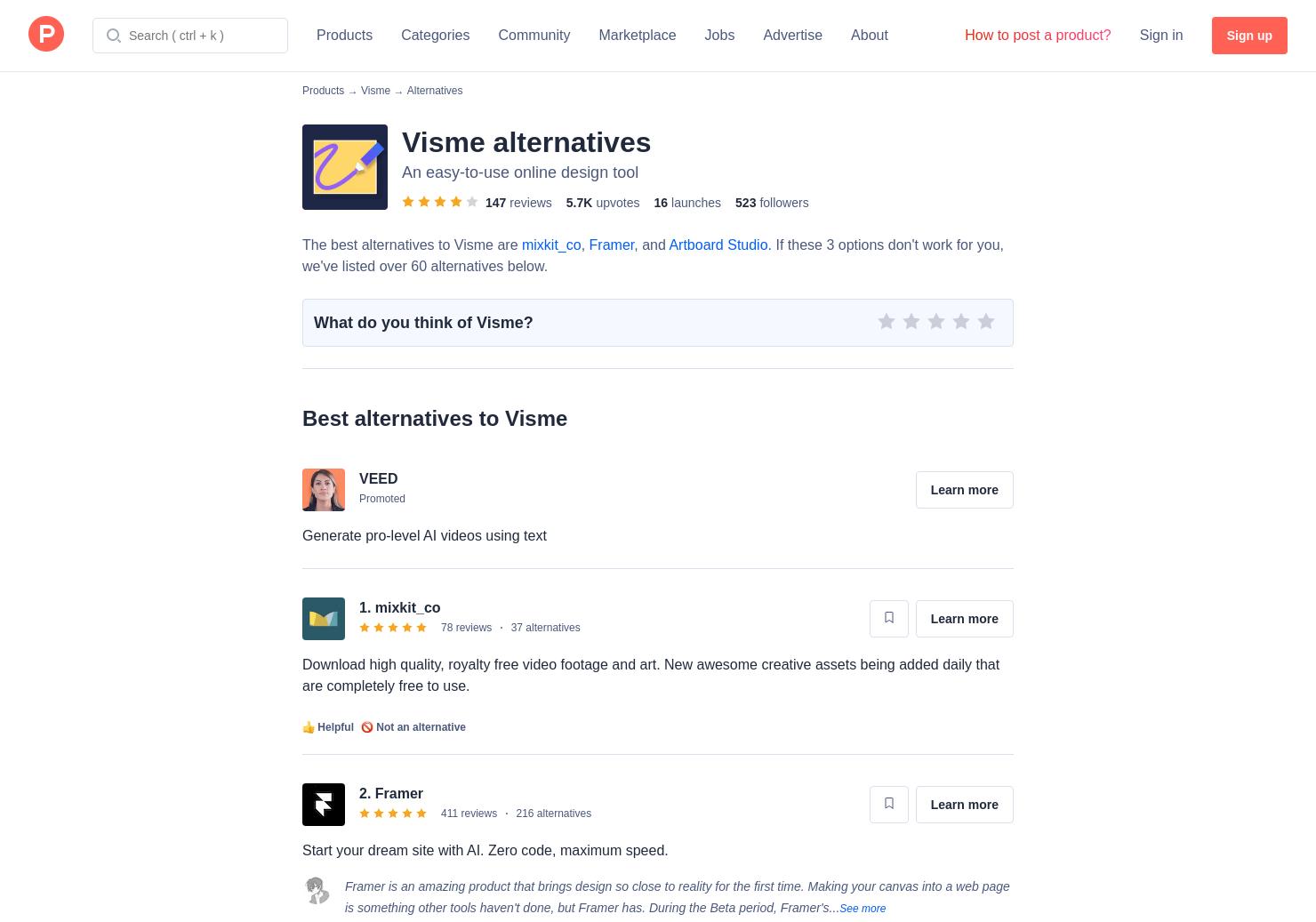 7 Alternatives to Visme Flowchart Maker   Product Hunt