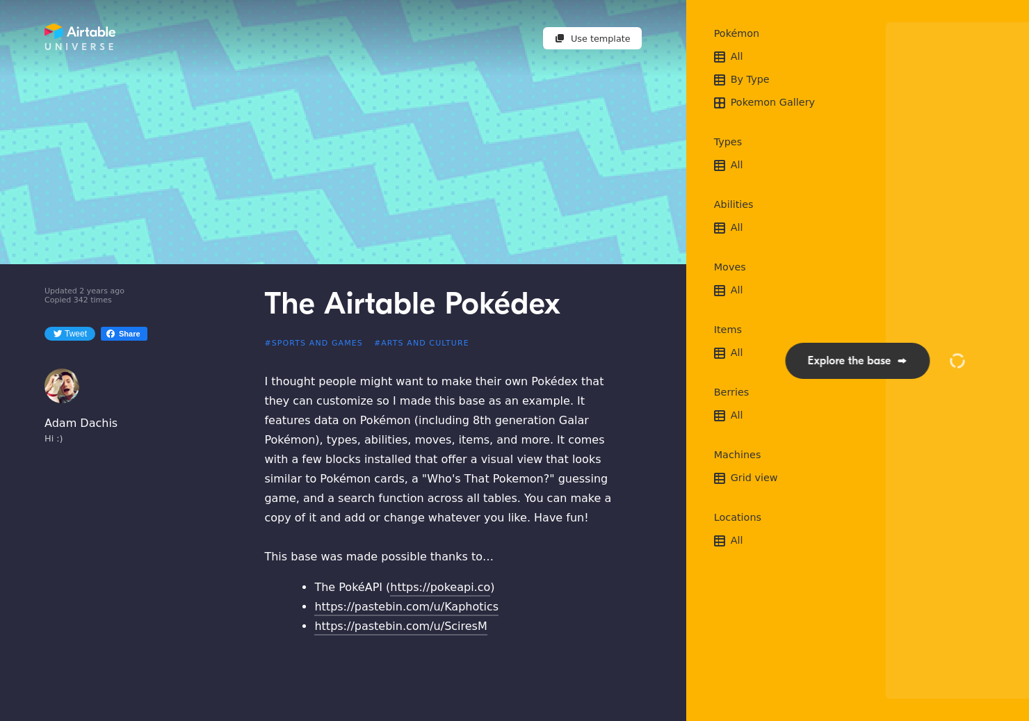 Airtable Pokédex