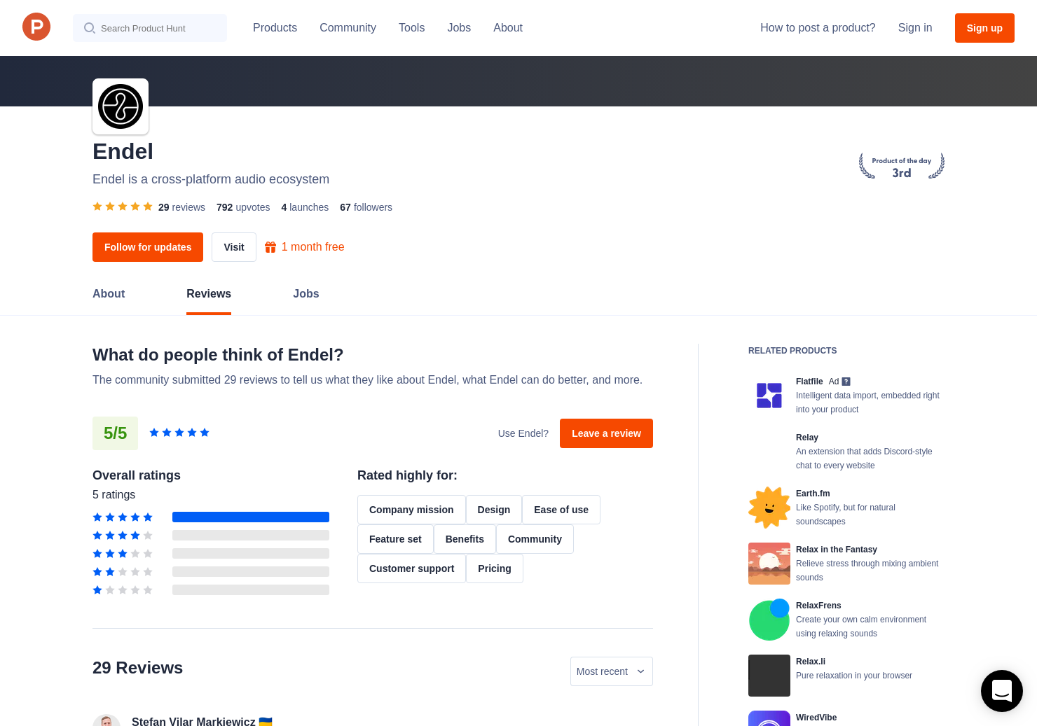 14 Endel Reviews - Pros, Cons and Rating | Product Hunt