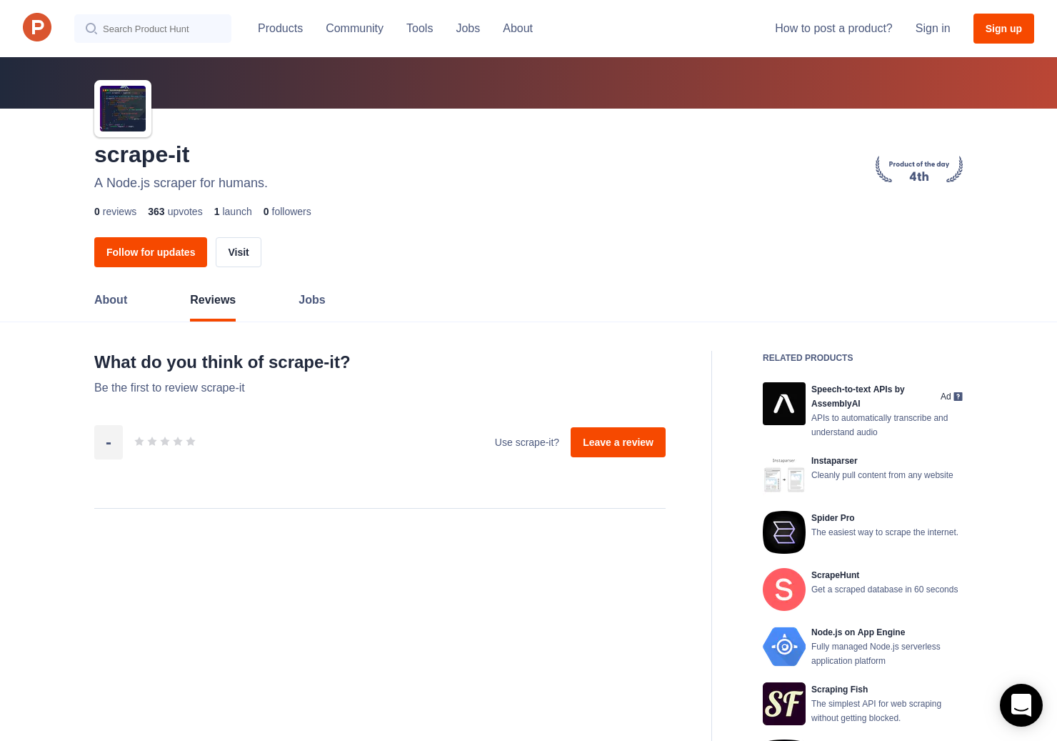 scrape-it Reviews - Pros, Cons and Rating | Product Hunt