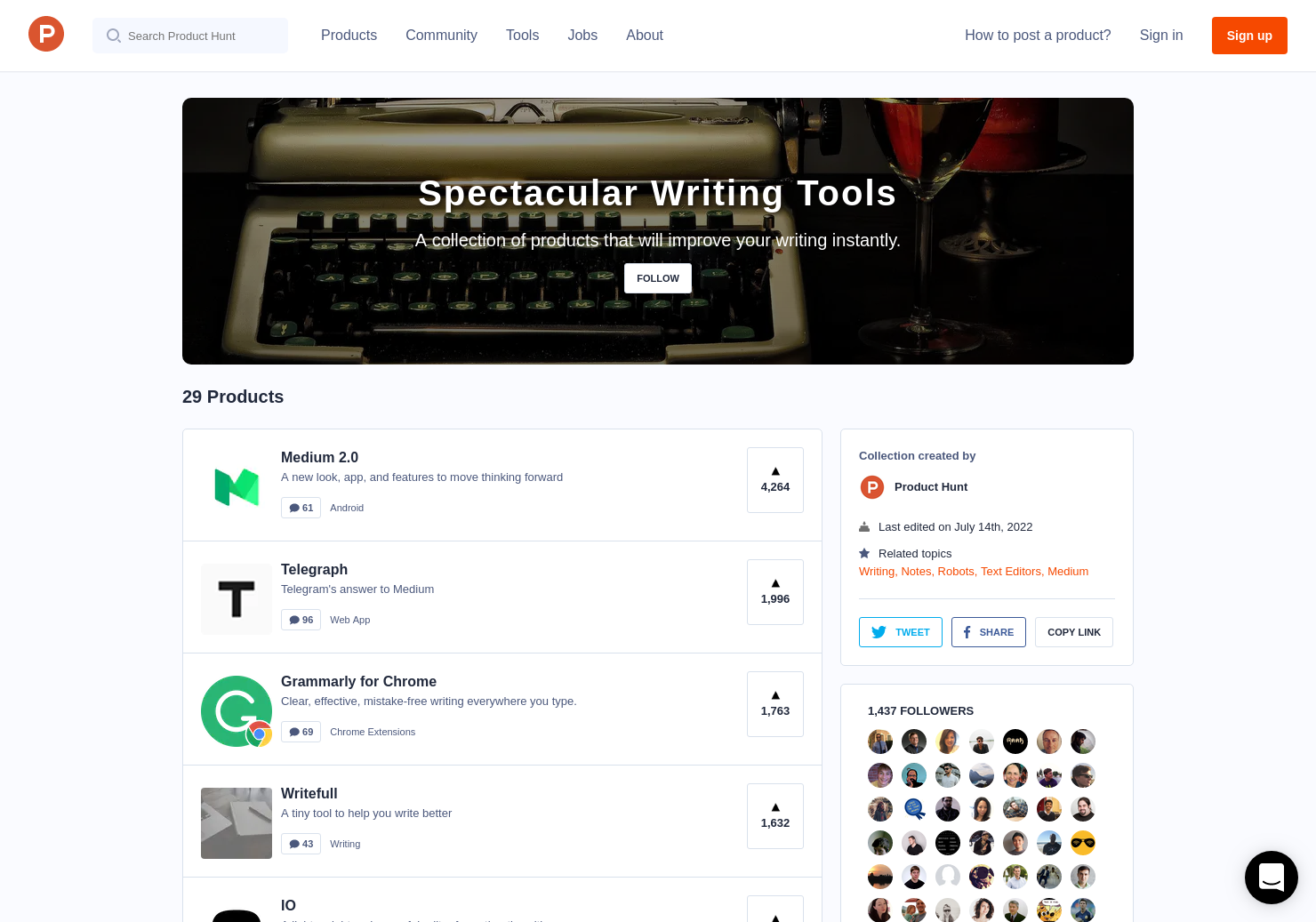 Spectacular Writing Tools
