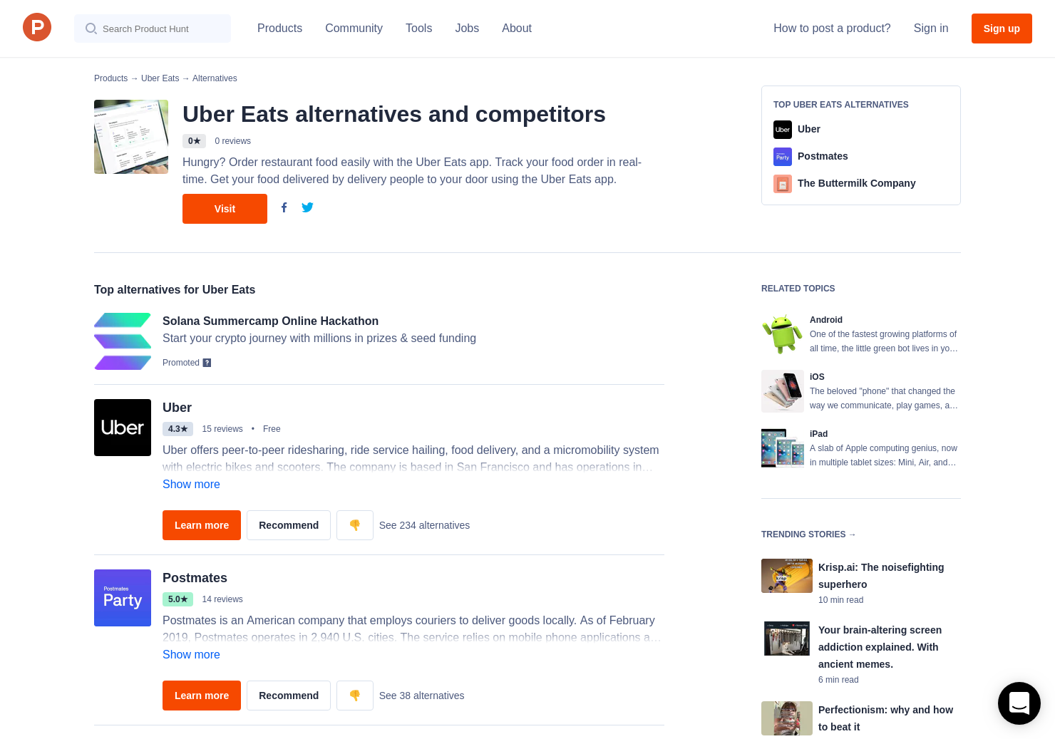 1 Alternatives to UberEATS Restaurant Manager | Product Hunt