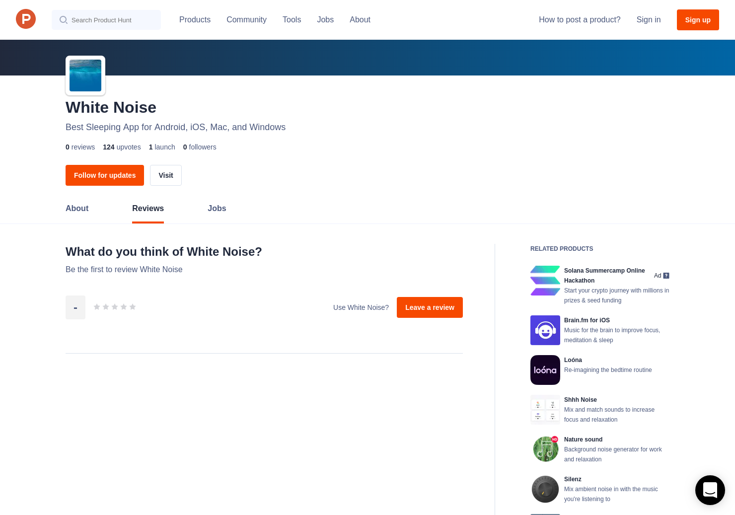 White Noise Reviews - Pros, Cons and Rating | Product Hunt