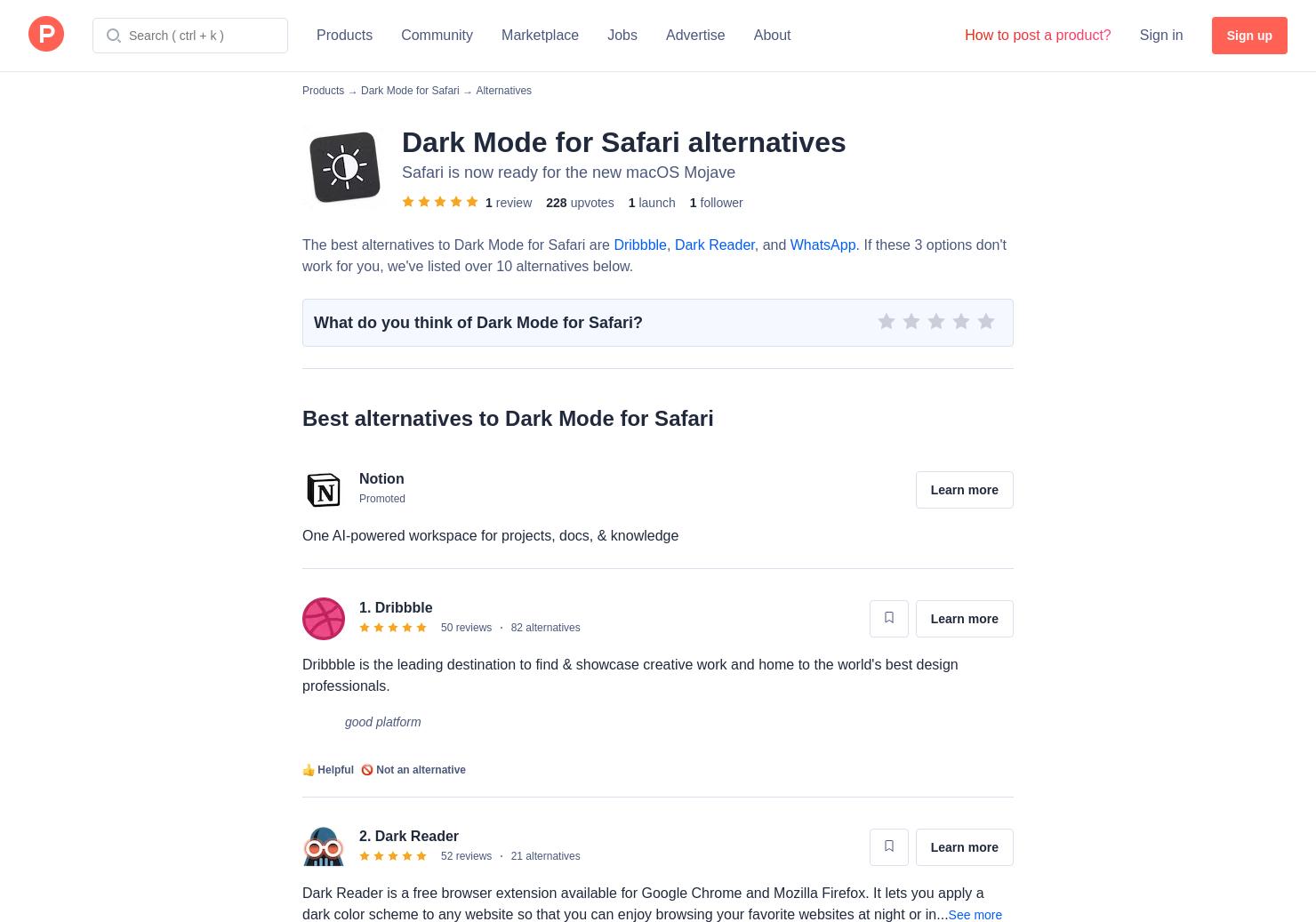 10 Alternatives To Dark Mode For Safari For Mac Product Hunt