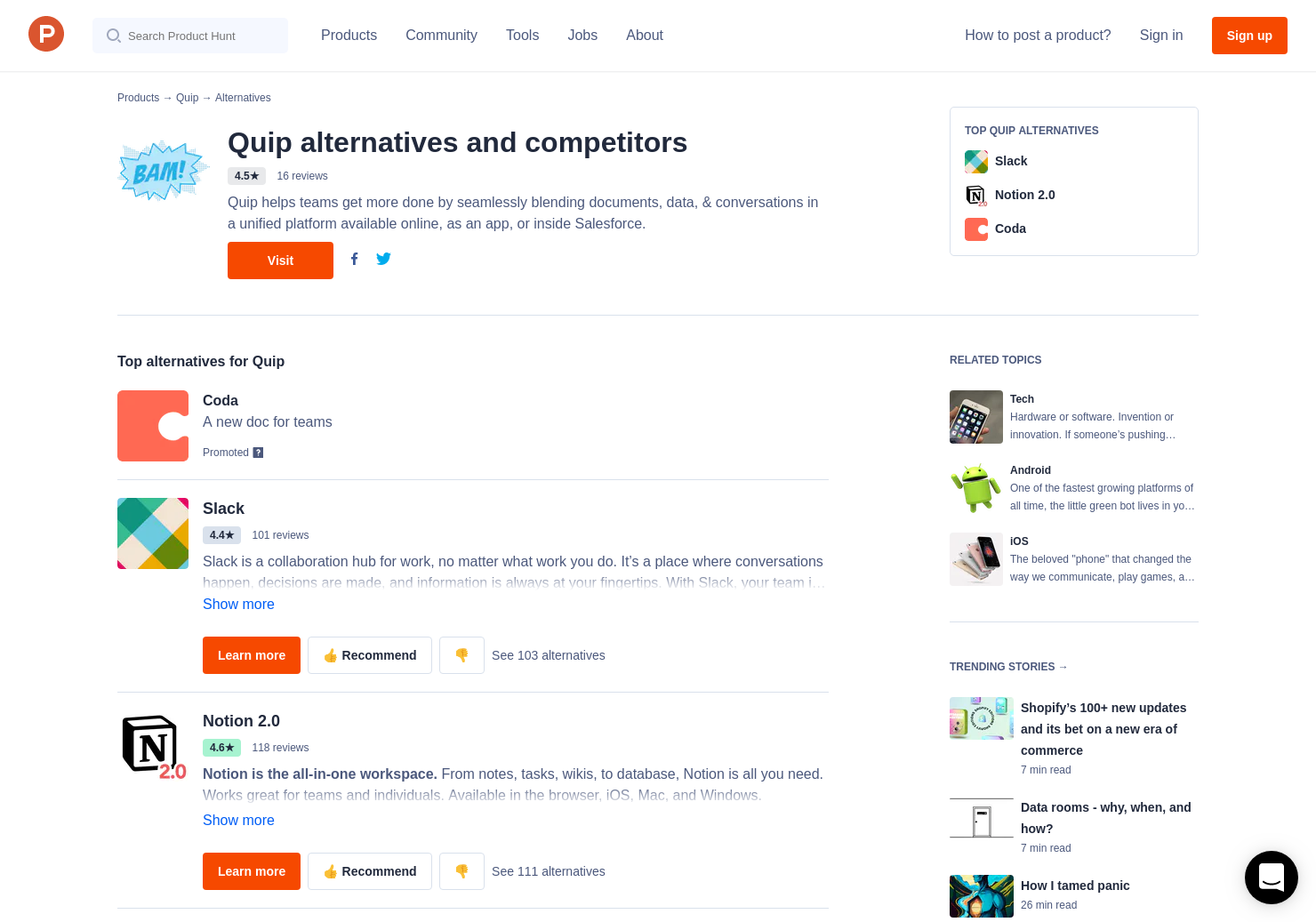21 Alternatives to Quip 3 0 | Product Hunt