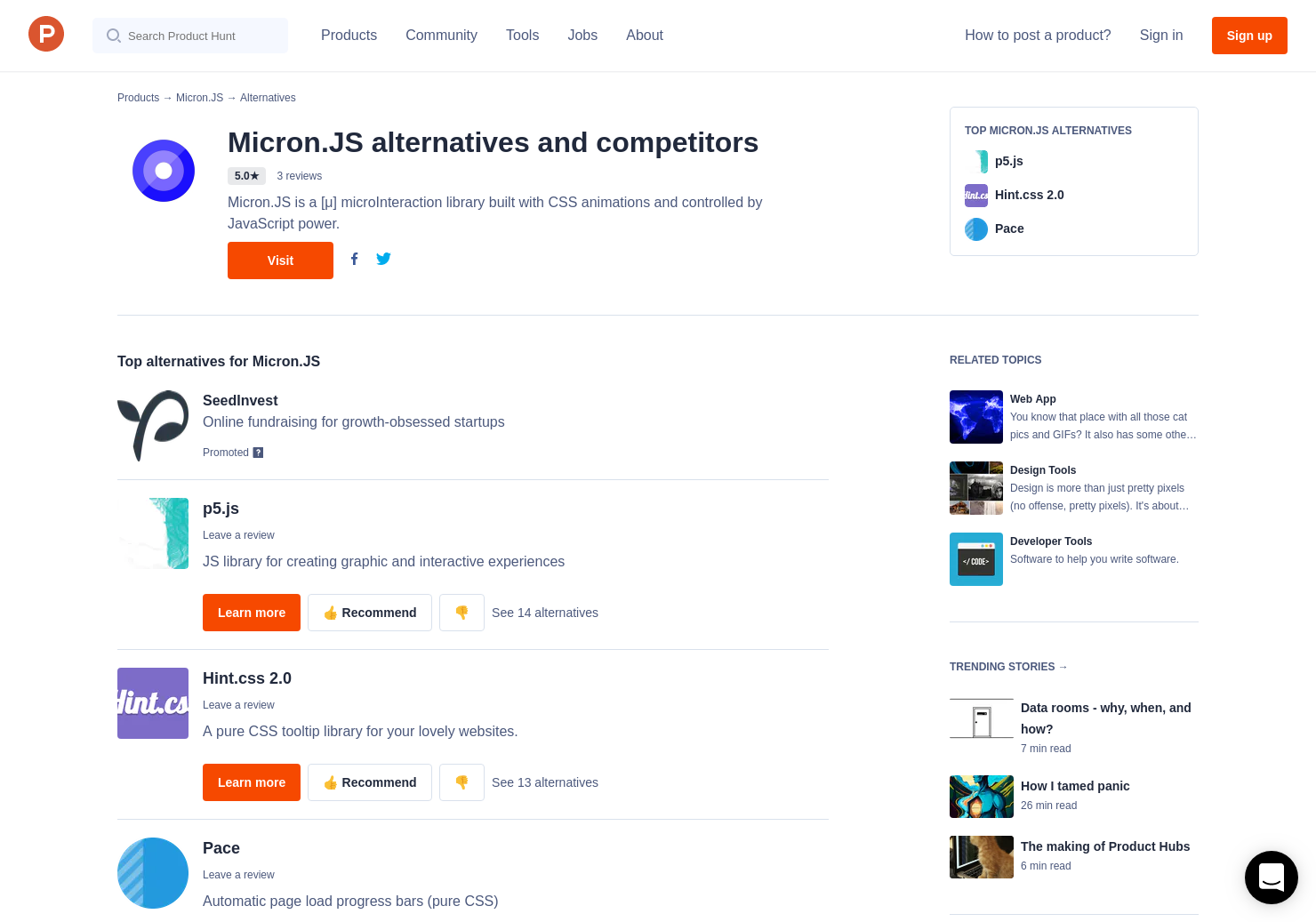 6 Alternatives to Micron JS | Product Hunt