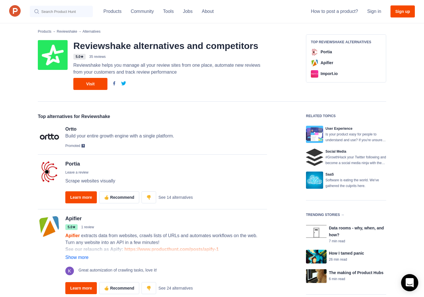 10 Alternatives to Website Metadata Scraper API | Product Hunt
