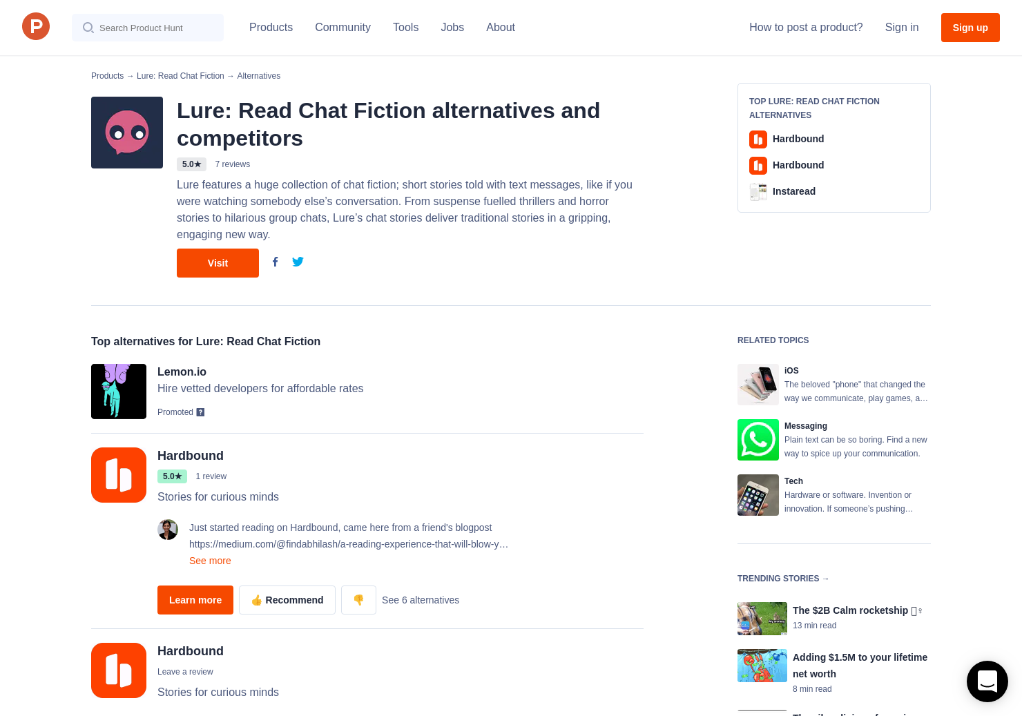 9 Alternatives To Lure Read Chat Fiction For Iphone Product Hunt