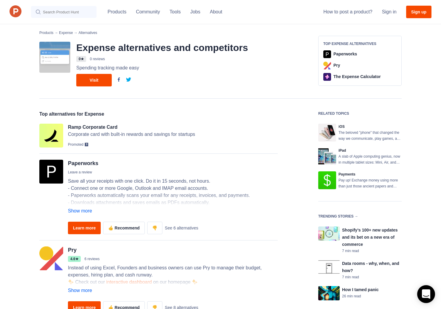 10 alternatives to expense for iphone ipad product hunt