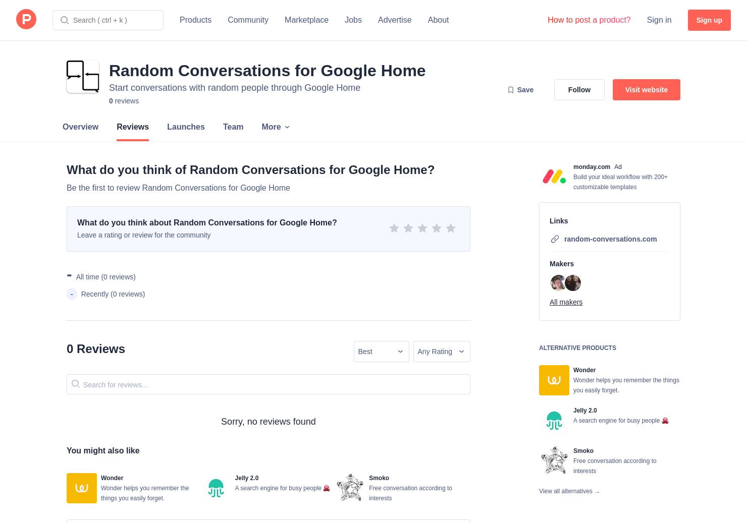 Random Conversations for Google Home Reviews - Pros, Cons and Rating