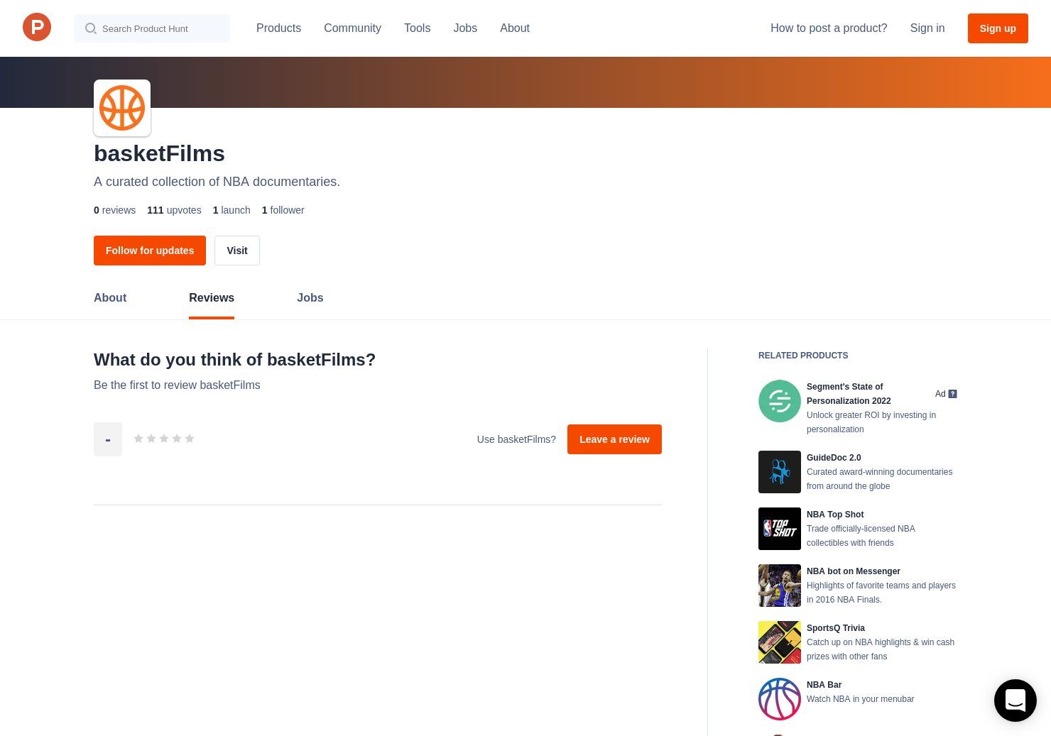 basketFilms Reviews - Pros, Cons and Rating | Product Hunt