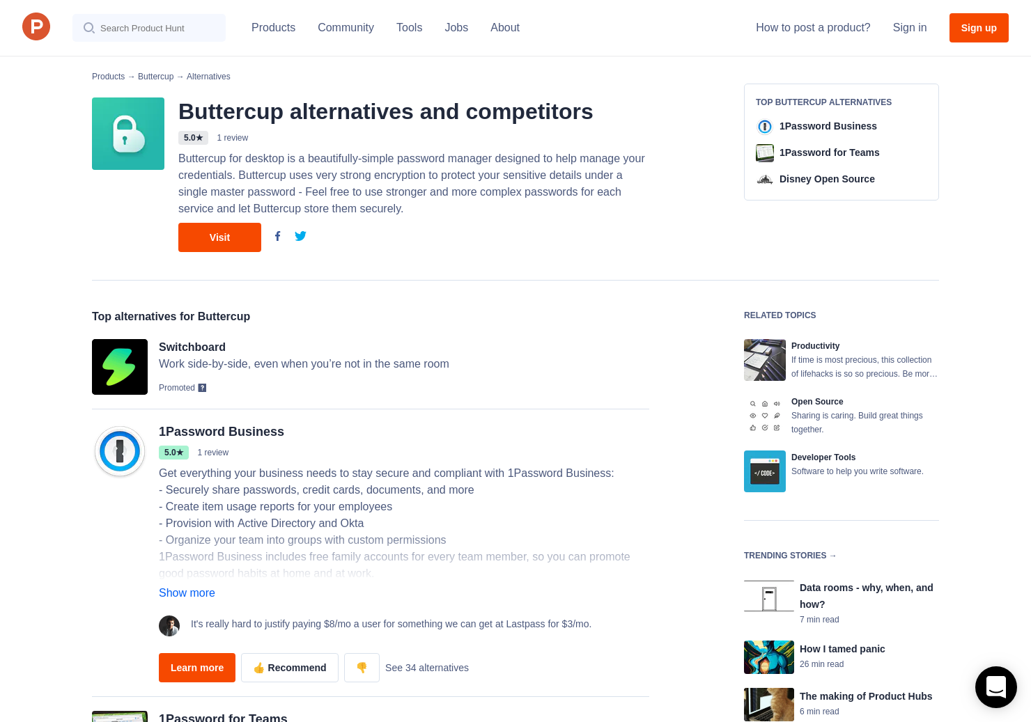 12 Alternatives to Buttercup | Product Hunt