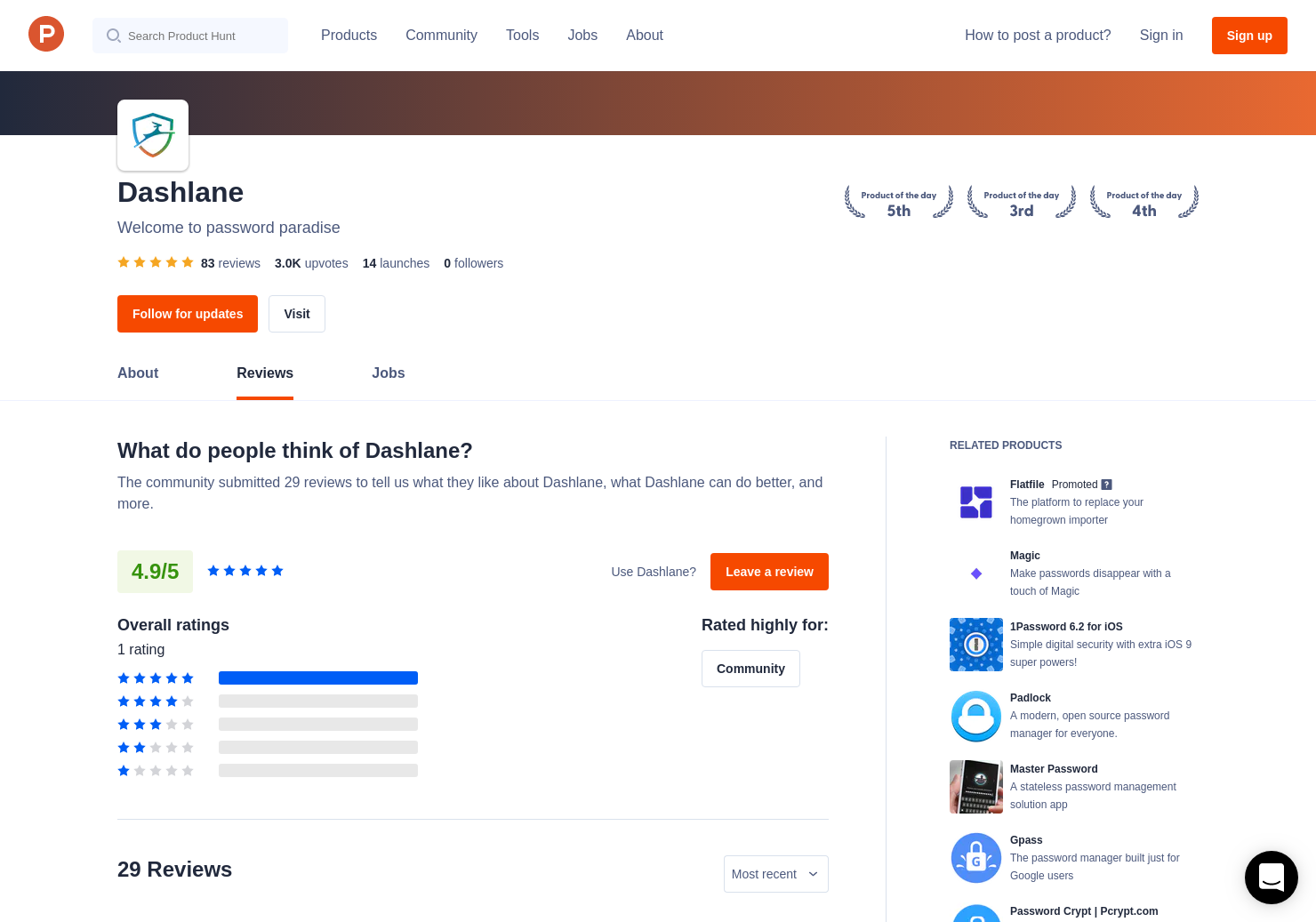 52 Dashlane 5 Reviews - Pros, Cons and Rating | Product Hunt