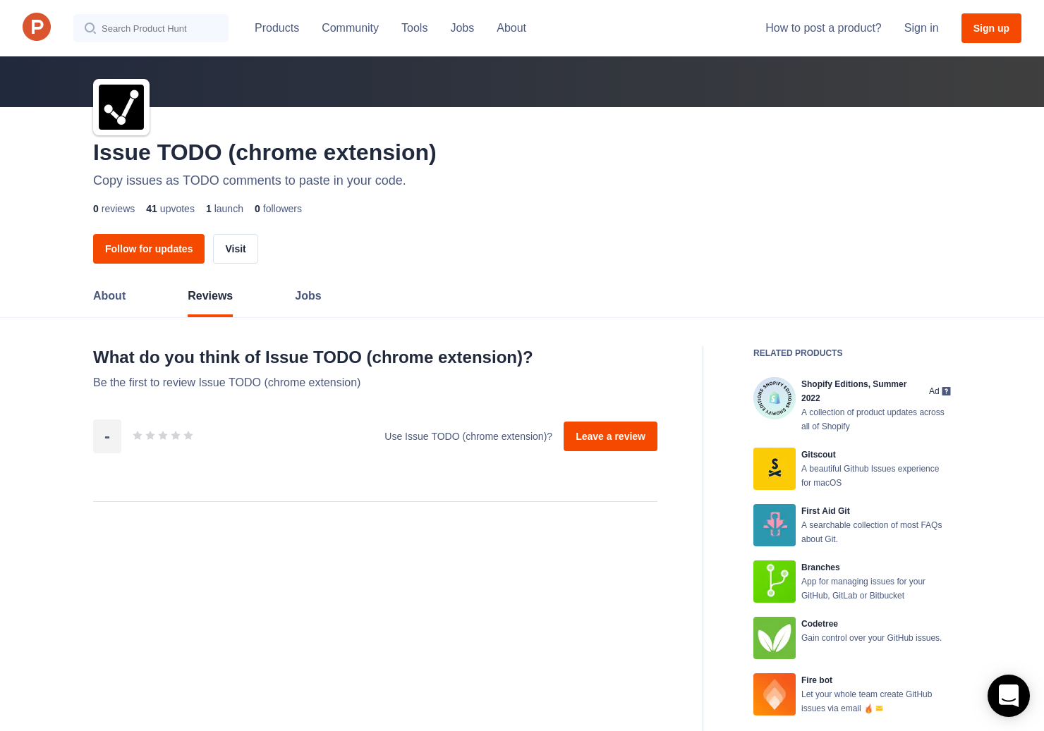 Issue TODO (chrome extension) Reviews - Pros, Cons and