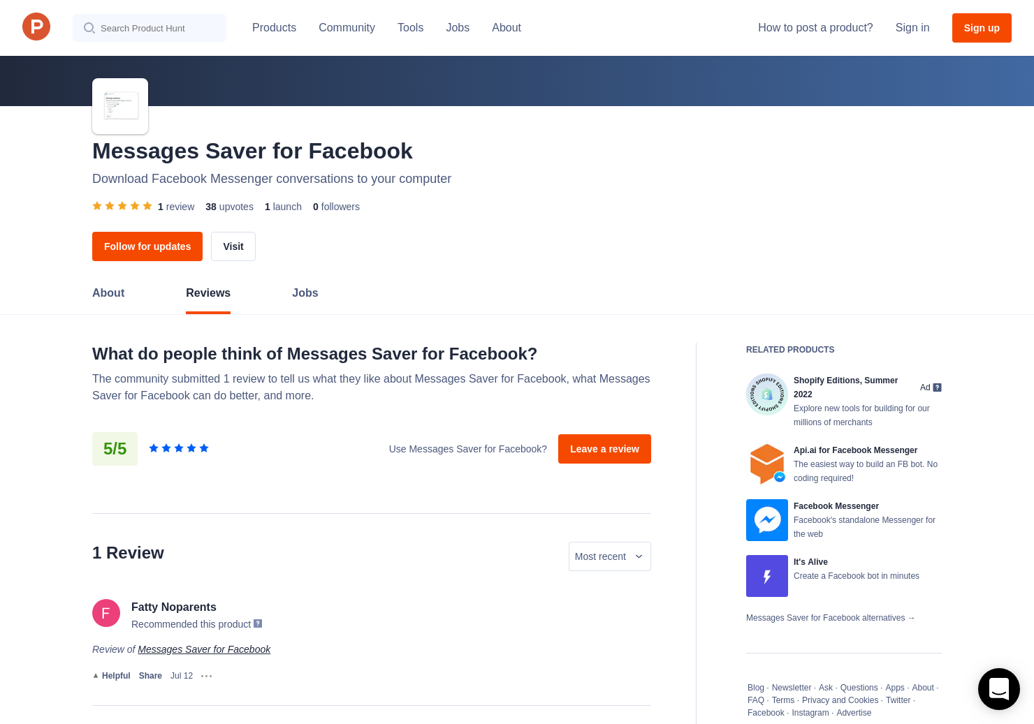 Messages Saver for Facebook Reviews - Pros, Cons and Rating