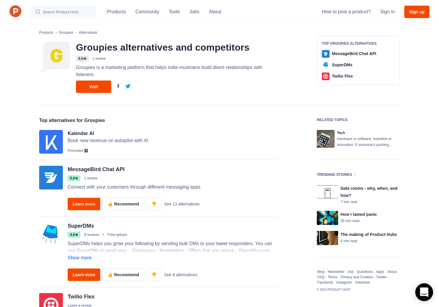 7 Alternatives to Groupies | Product Hunt