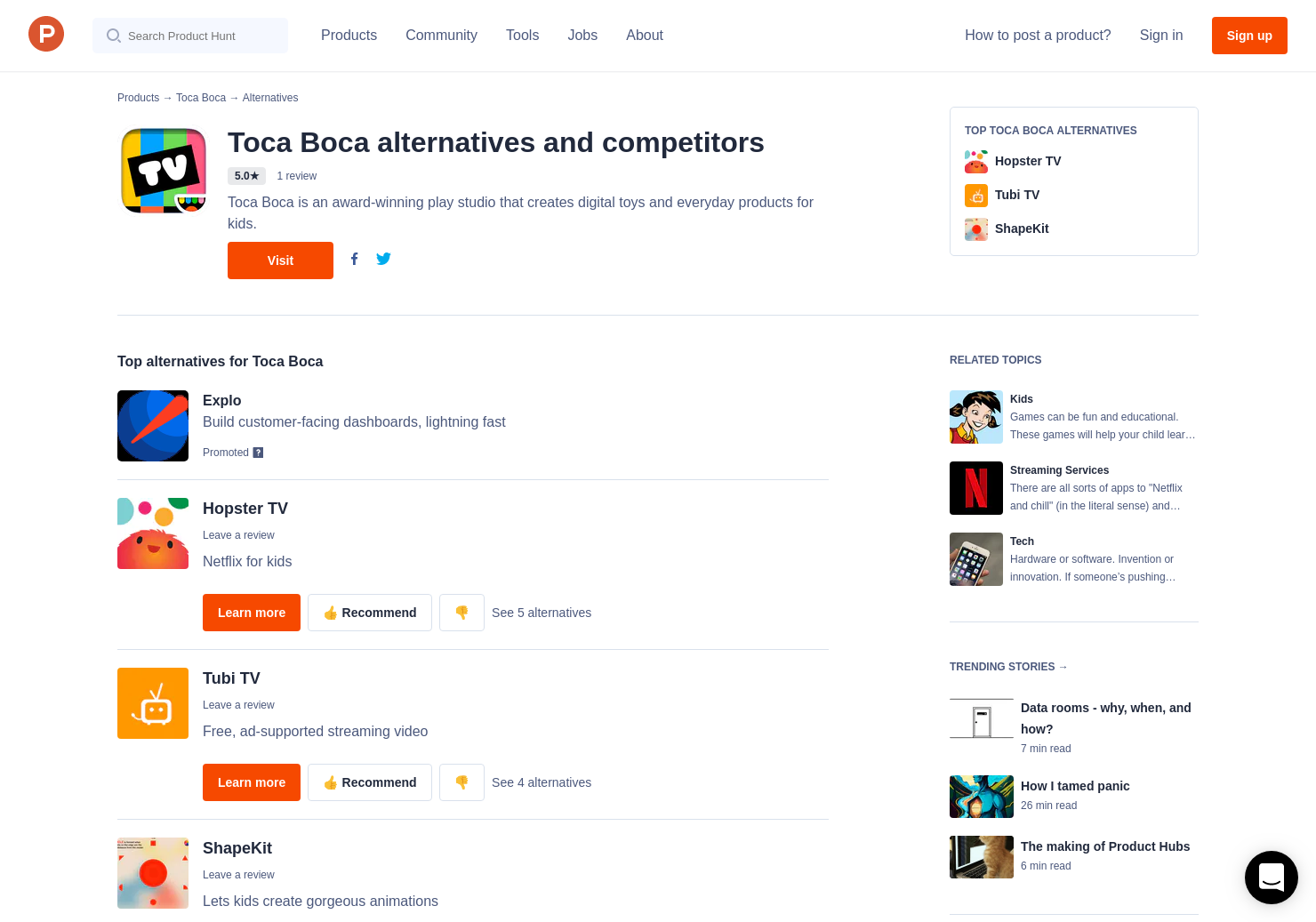 3 Alternatives to Toca Boo | Product Hunt