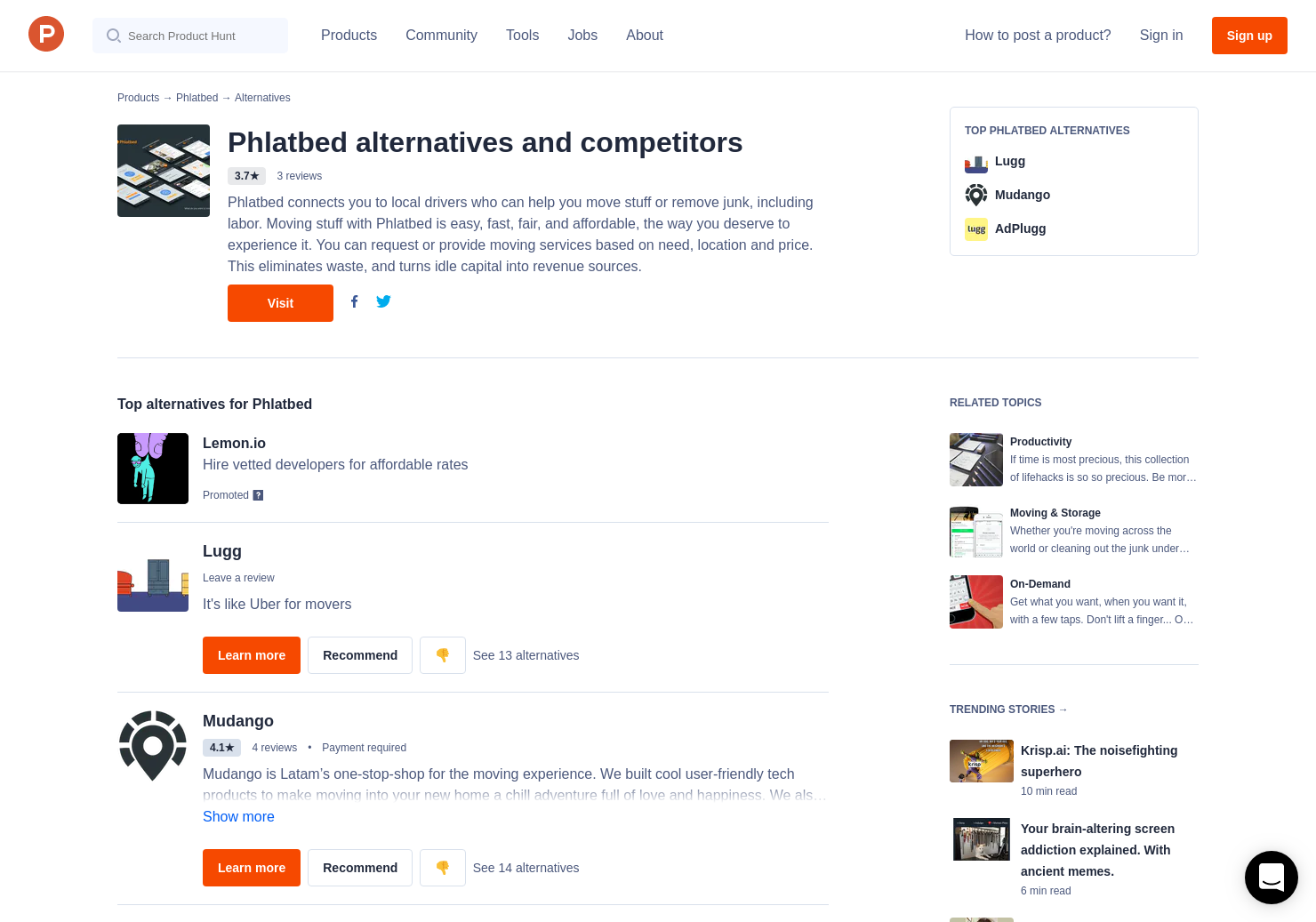 9 Alternatives to Phlatbed   Product Hunt