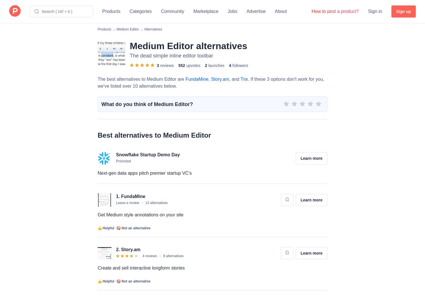 13 Alternatives to Medium Editor | Product Hunt
