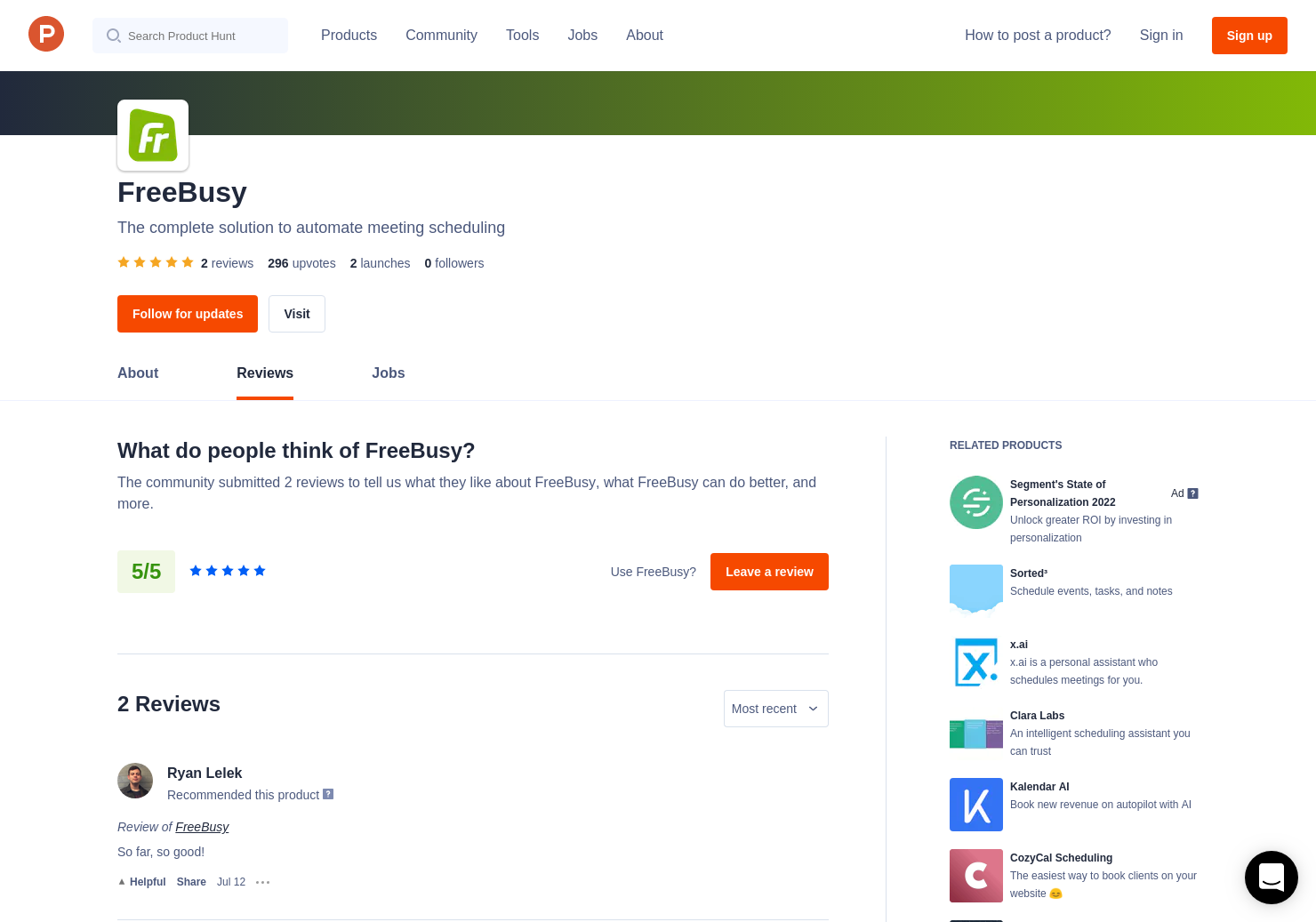 2 FreeBusy Reviews - Pros, Cons and Rating   Product Hunt