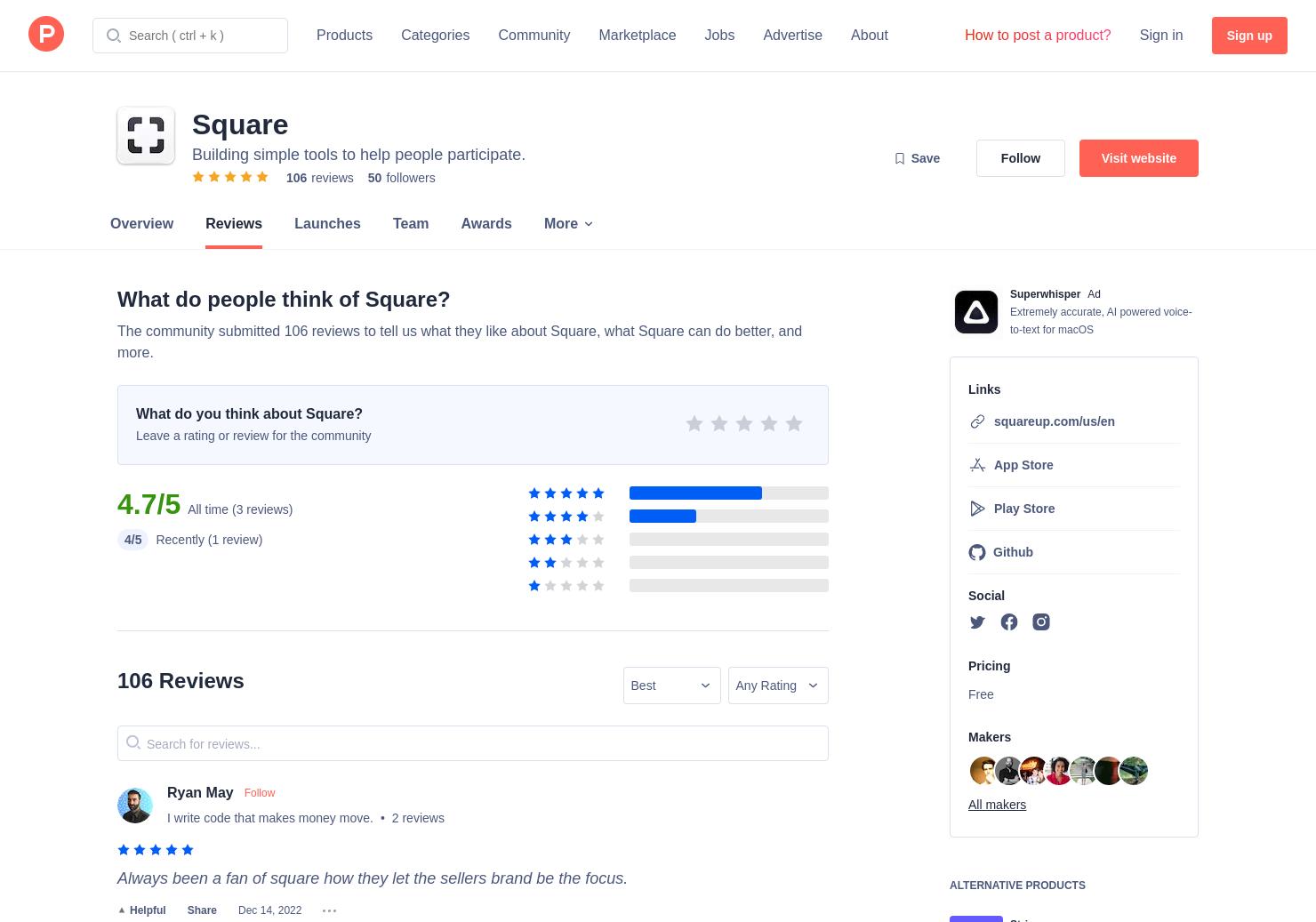 Square Flutter Plug-in for Reader SDK Reviews - Pros, Cons