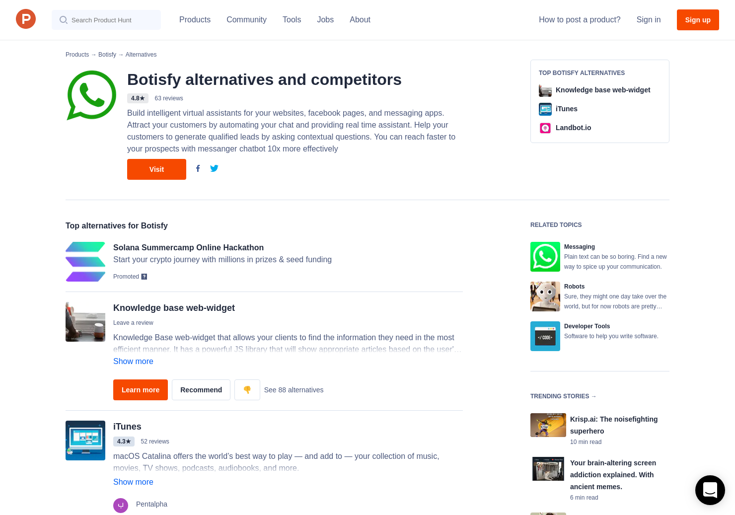 8 Alternatives to Chatbot for Education   Product Hunt