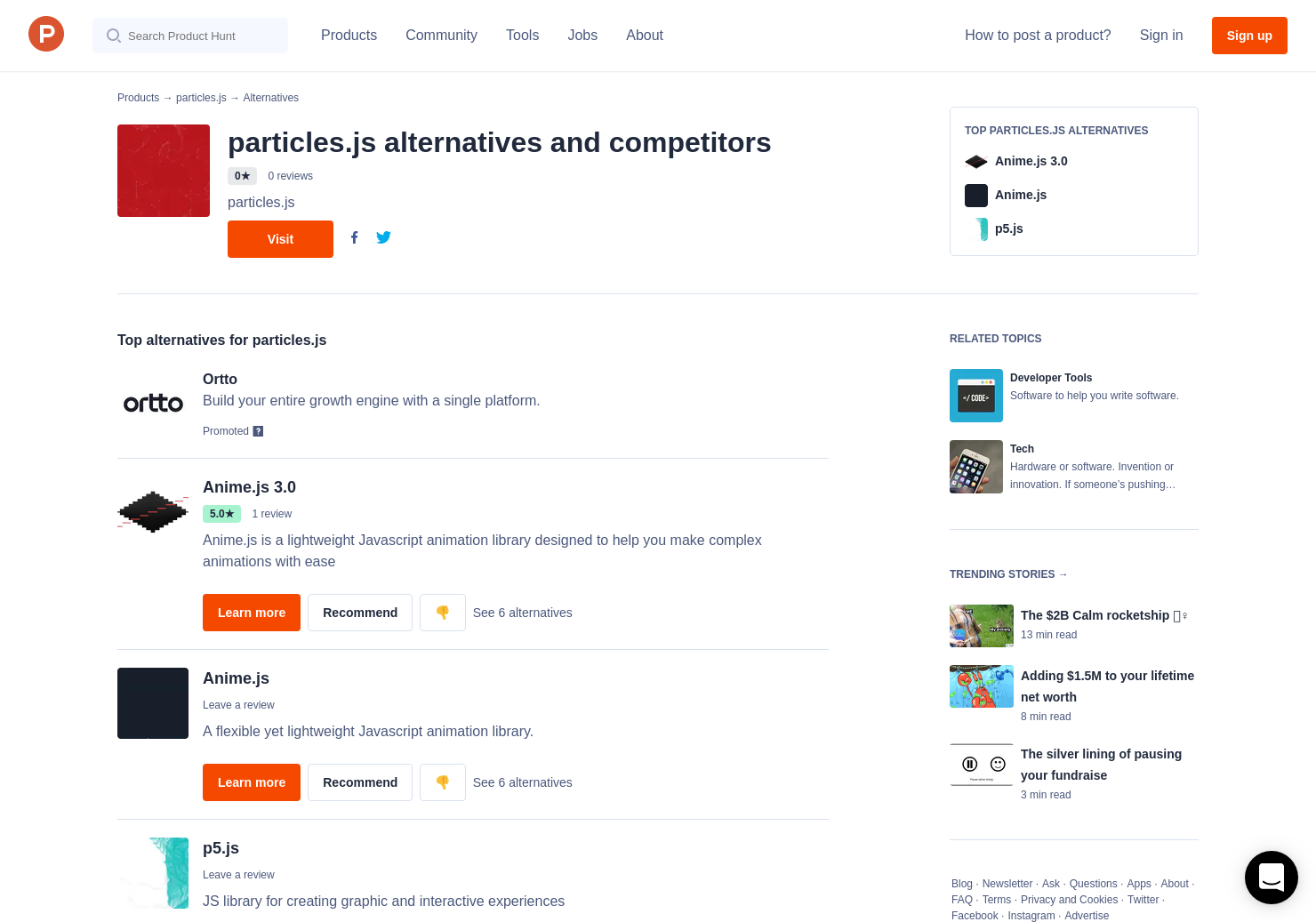 12 Alternatives to particles js | Product Hunt