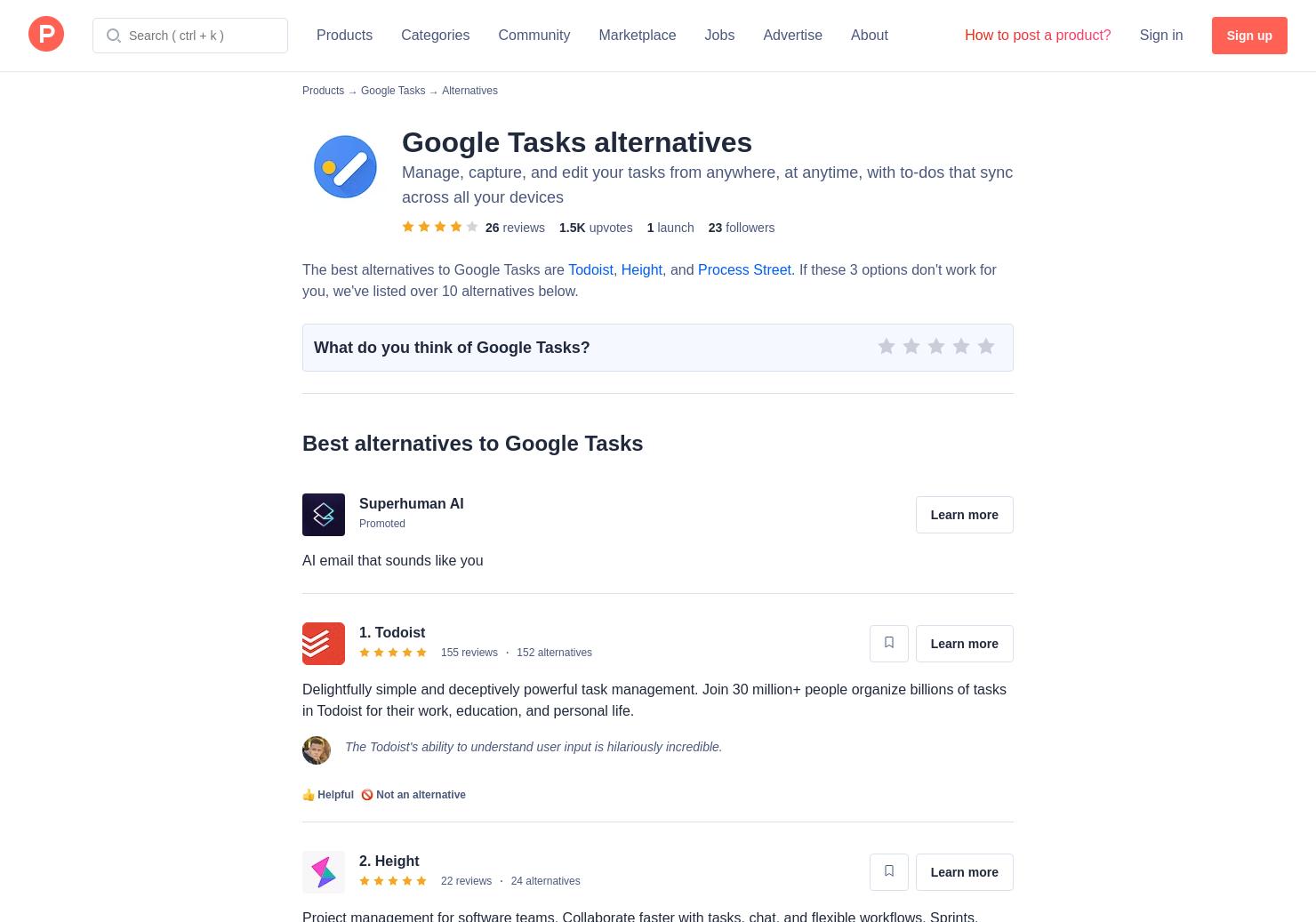 13 Alternatives to Google Tasks for Mobile for Android
