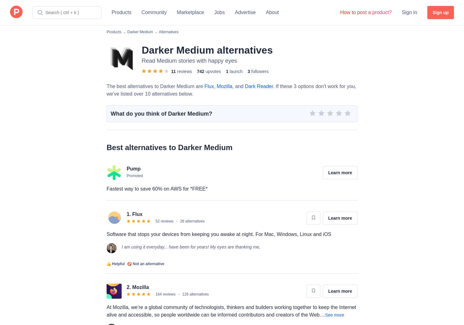 22 Alternatives to Darker Medium for Chrome Extensions
