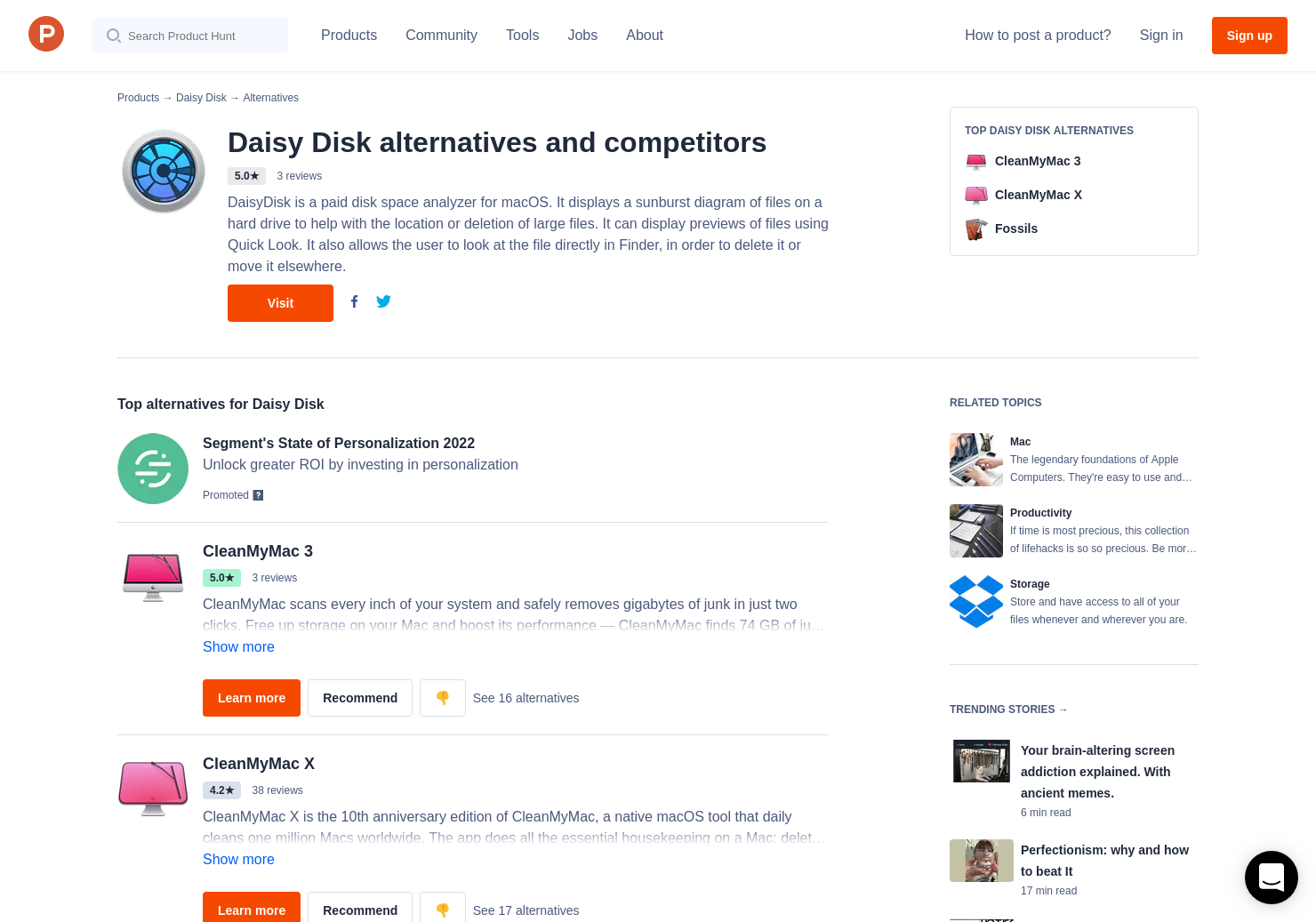 3 Alternatives to DaisyDisk for Mac | Product Hunt