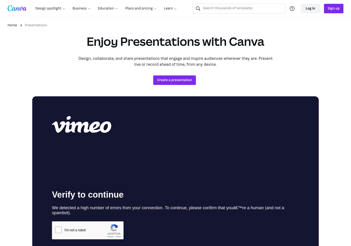 Presentations by Canva