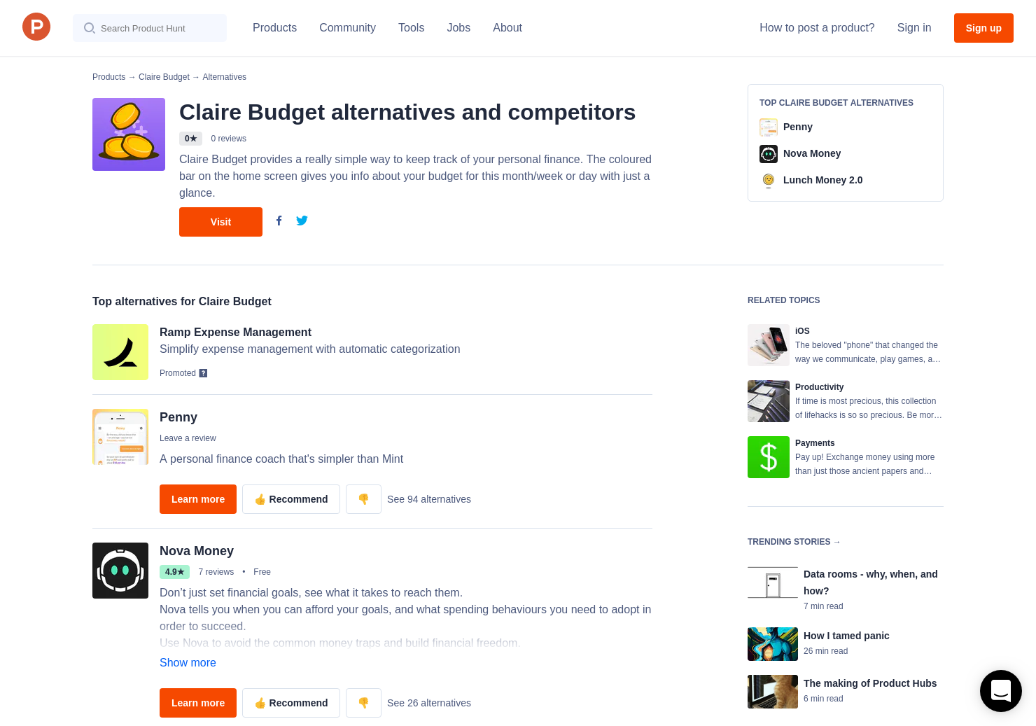 12 Alternatives to Claire Budget for iPhone | Product Hunt