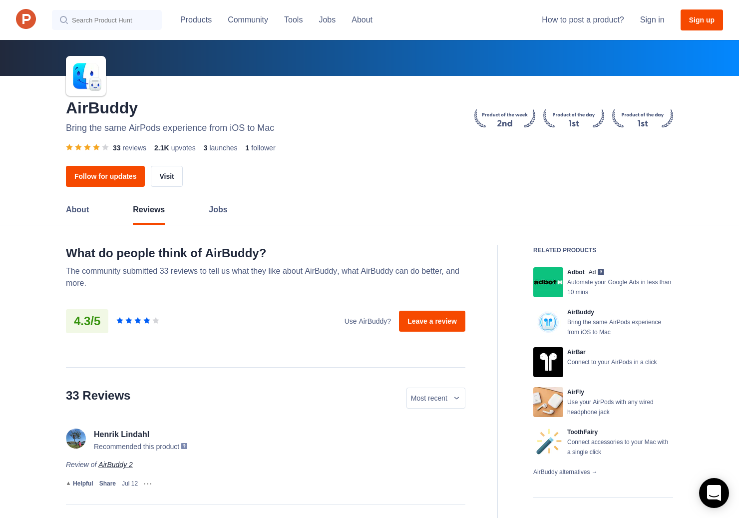 24 AirBuddy Reviews - Pros, Cons and Rating | Product Hunt
